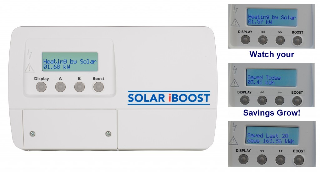 Solar hot water switch